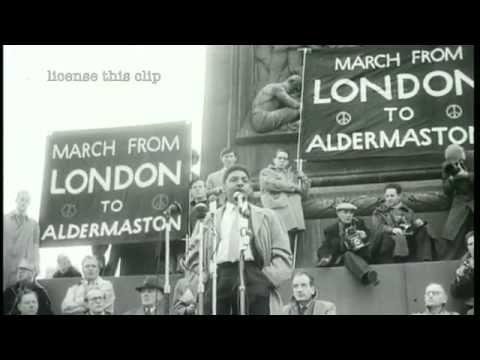 Bayard Rustin at Anti-Nuclear Rally in Trafalgar Square