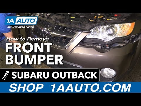 How to Replace Install Front Bumper 10 Subaru Outback