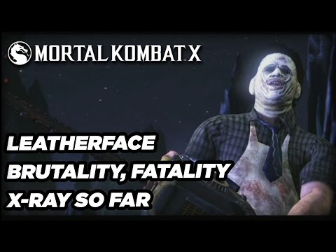 Leatherface Fatality, Brutality, and X-Ray - Mortal Kombat X Official Gameplay