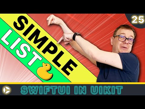 SwiftUI in UIKit - Simple List | Swift 5, Xcode 10 thumbnail