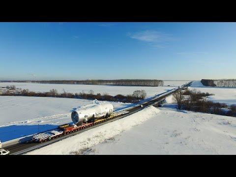 Перевозка многотонного оборудования  |  Heavy transport in Russia