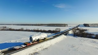 Перевозка многотонного оборудования  |  Heavy transport in Russia(, 2016-02-09T16:16:37.000Z)