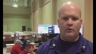 Coast Guard member flashes white power signal during live broadcast - Daily News