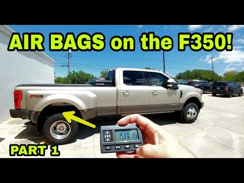 2017 F350 Gets Huge Air Bags Airlift 7500xl