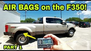 2017 F350 gets HUGE AIR BAGS! Airlift 7500XL