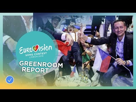 Emotions in the greenroom during the first Semi-Final of the 2018 Eurovision Song Contest