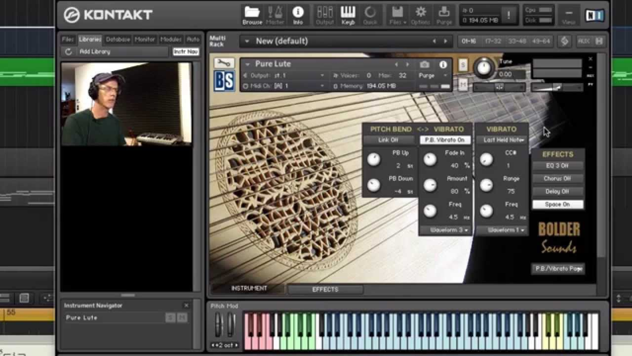 Pure Lute Video Demo - Bolder Sounds
