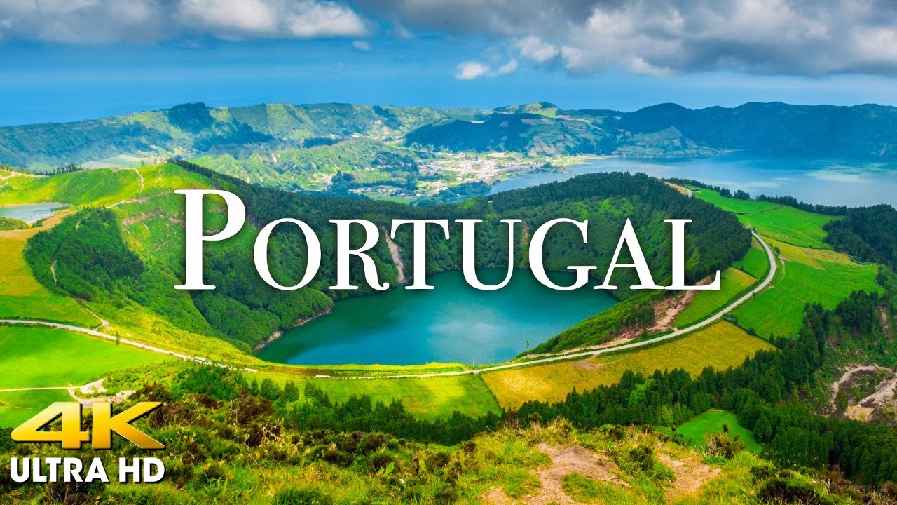 FLYING OVER PORTUGAL (4K UHD) Beautiful Nature Scenery with Relaxing Music | 4K VIDEO Ultra HD