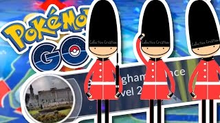 I AM THE KING OF ENGLAND!!!!   Pokemon GO in London w/ThinksWife