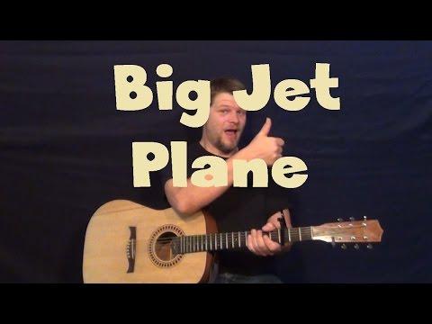 Big Jet Plane AngusJulia Stone Easy Guitar Lesson How to Play Tutorial