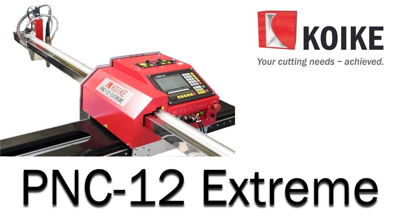 Koike Pnc 12 Extreme Portable Cnc Cutting Machine Youtube