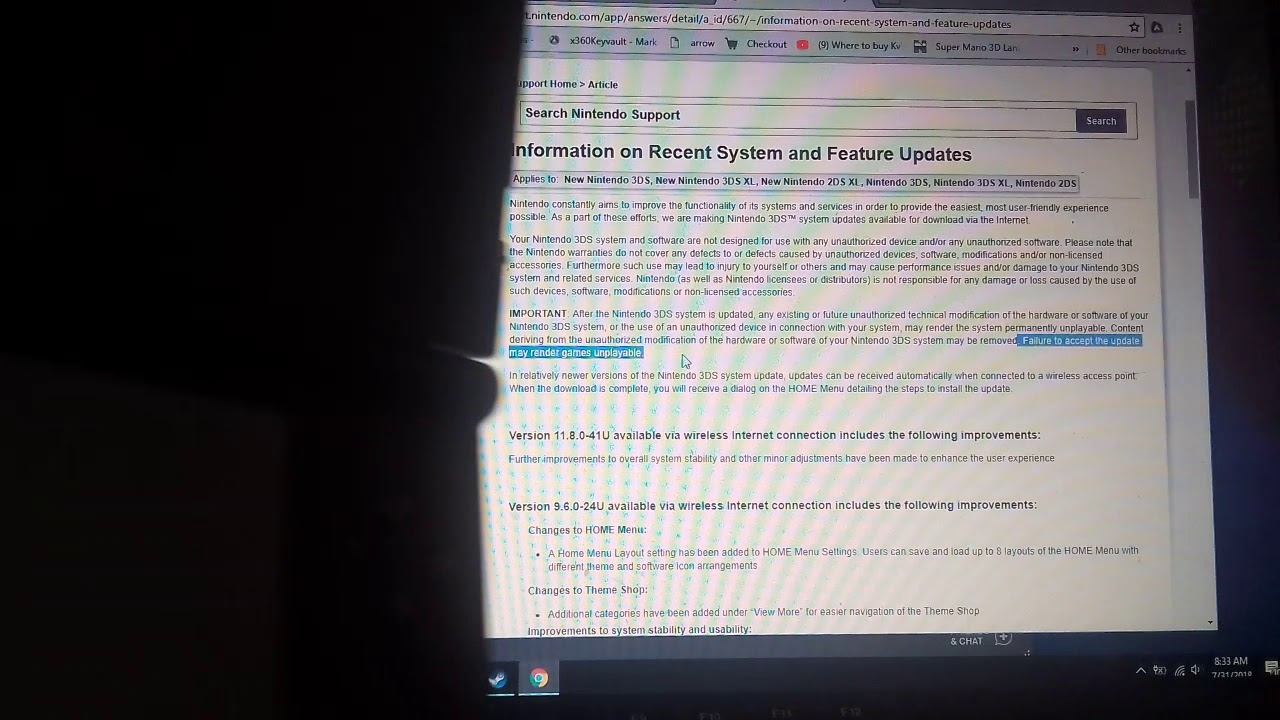 11 8 its not safe to update!! A Fix found for 3ds's cfw video link in the  description