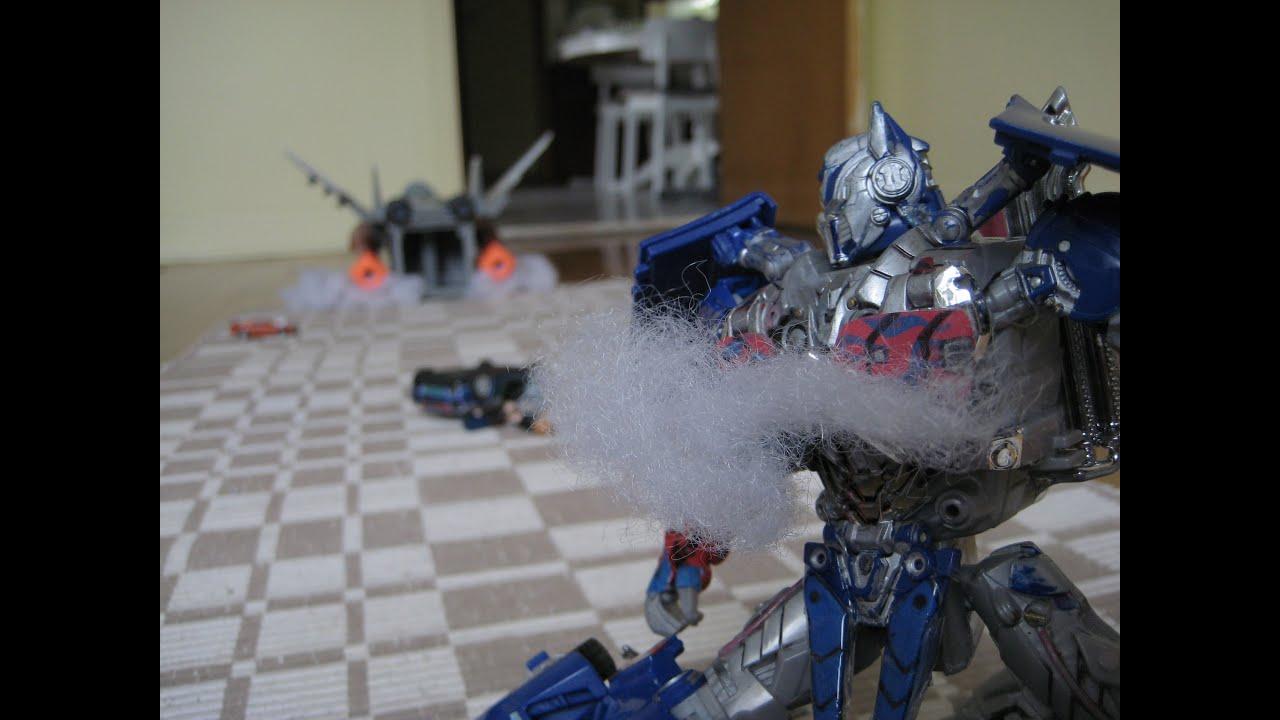 Transformers Aoe Galvatron Vs Optimus Prime Chicago Chase Scene