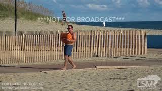 9 10 18 Atlantic Beach, NC Hurricane Florence  Boarding Up SandBagging Aerials