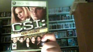 CSI Hard Evidence Review (XBOX 360)