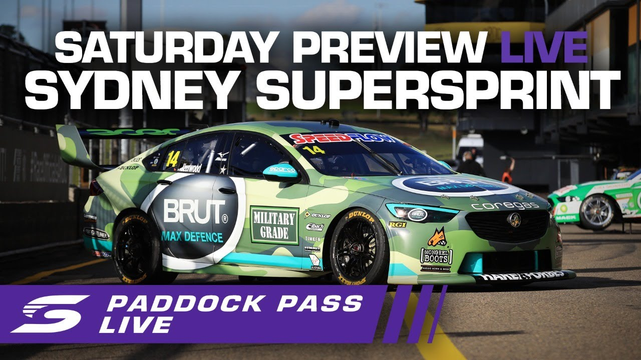 Saturday Preview Paddock Pass LIVE - Sydney SuperSprint | Supercars 2020