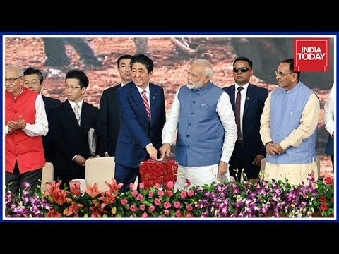 PM Modi, Shinzo Abe Lay Foundation Stone Of India's First Bullet Train Project