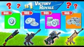 RANDOM V-BUCKS WAR in Fortnite Battle Royale !
