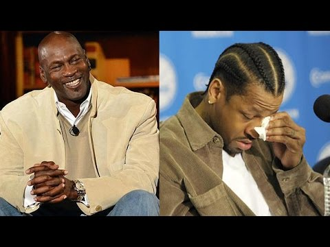 Michael Jordan THREW Allen Iverson's Sneakers in the TRASH!