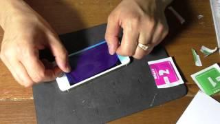 Как наклеить защитное стекло на экран iPhone(, 2015-07-04T18:30:28.000Z)