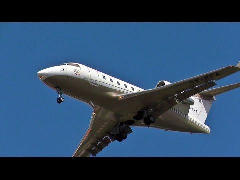 Gain Jet Aviation Canadair Challenger 604 SX-KFA State of Kuwait landing at Berlin Tegel Airport
