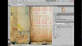 Видеоурок Photoshop Винтажный календарь