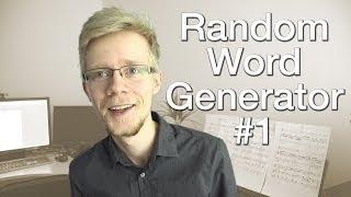 Random Word Generator, vol. 1