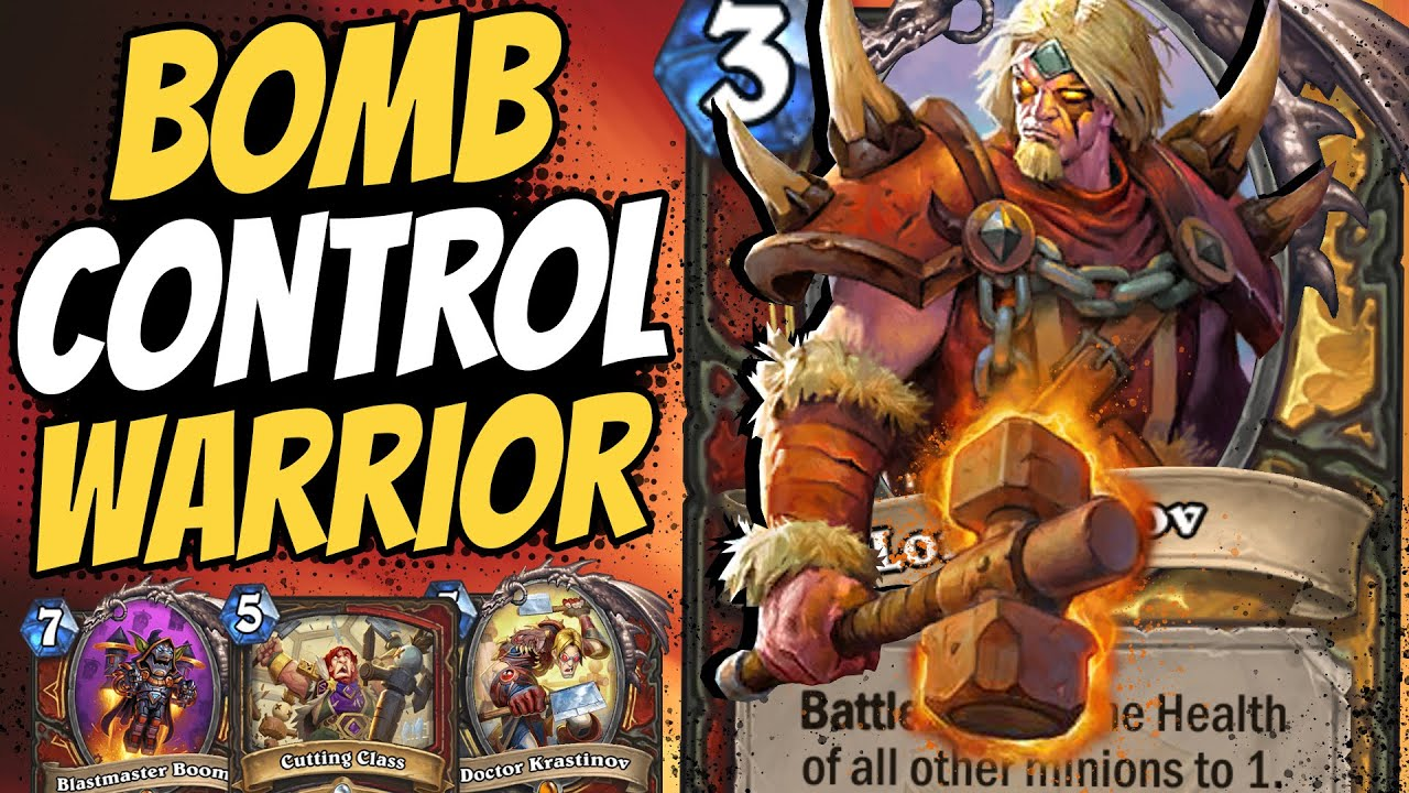 THE NEW BEST DECK!! Barov Bomb Control Warrior is #1 Right Now! | Scholomance Academy | Hearthstone