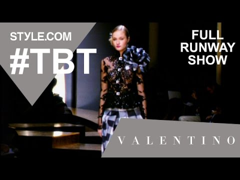 Valentino's Haute Couture Spring 2001 Collection - Full Runway Show - Style.com
