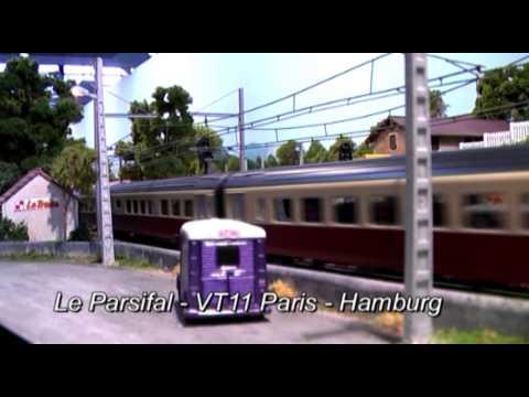 French HO European Model Train Layout Modellanlagen