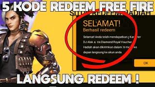 5 KODE REDEEM FREE FIRE TERBARU! HADIAH DJ ALOK!!