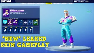 FORTNITE ALL *NEW* LEAKED SKINS + ITEMS GAMEPLAY! (GALAXY, WHITEOUT, MULLET MARAUDER, BEEF BOSS!)