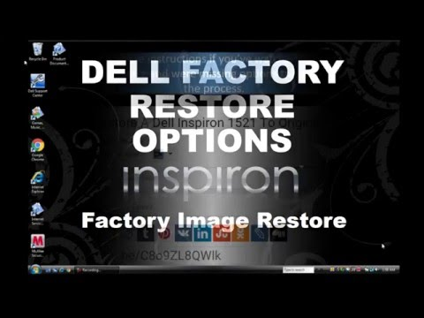 Dell Factory Image Restore Options