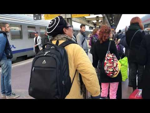[SNCF] TGV Lyria at Lyon-Part-Dieu station, Nov2017 (SNCF jingle)