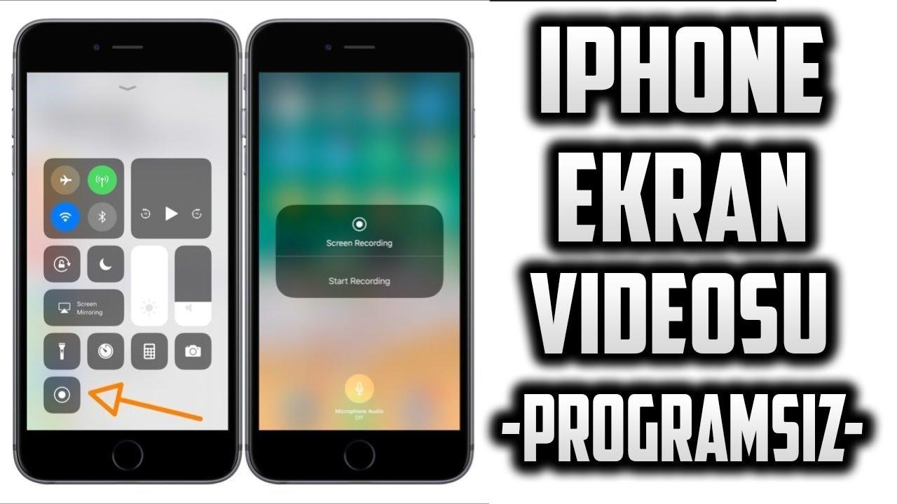 iphone ekran video cekmek