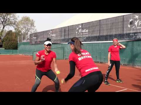 Aegon GB Fed Cup Team warm up for action in Romania