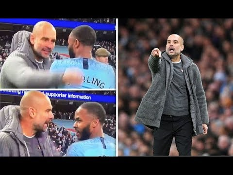 Why did Pep Guardiola angrily confront Raheem Sterling after the Manchester derby win?