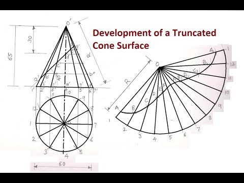 Development of a Truncated Cone Surface