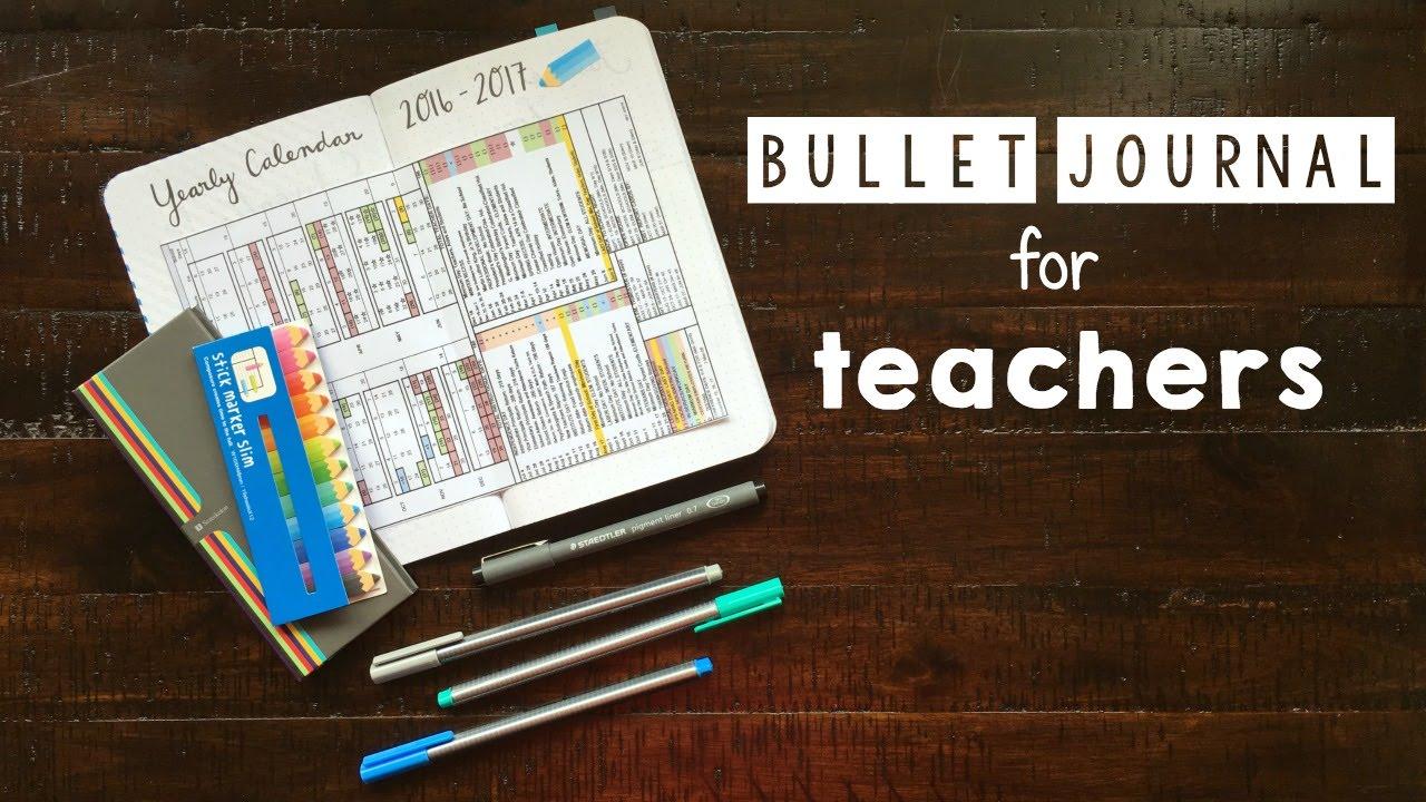 bullet journal teacher teachers lesson planner setup journals system