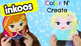 Disney Frozen Elsa und Anna Inkoos♥- Farbe N' Erstellen Disney Gefrorene Zeichen! Zeichnen, Waschen & WIEDERHERSTELLEN!!
