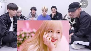 BTS Reaction to Blackpink Lisa ( bright focus ) 💞💞💞💕