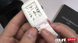 emporio armani white ceramic watch ar1408 review by discountshop com