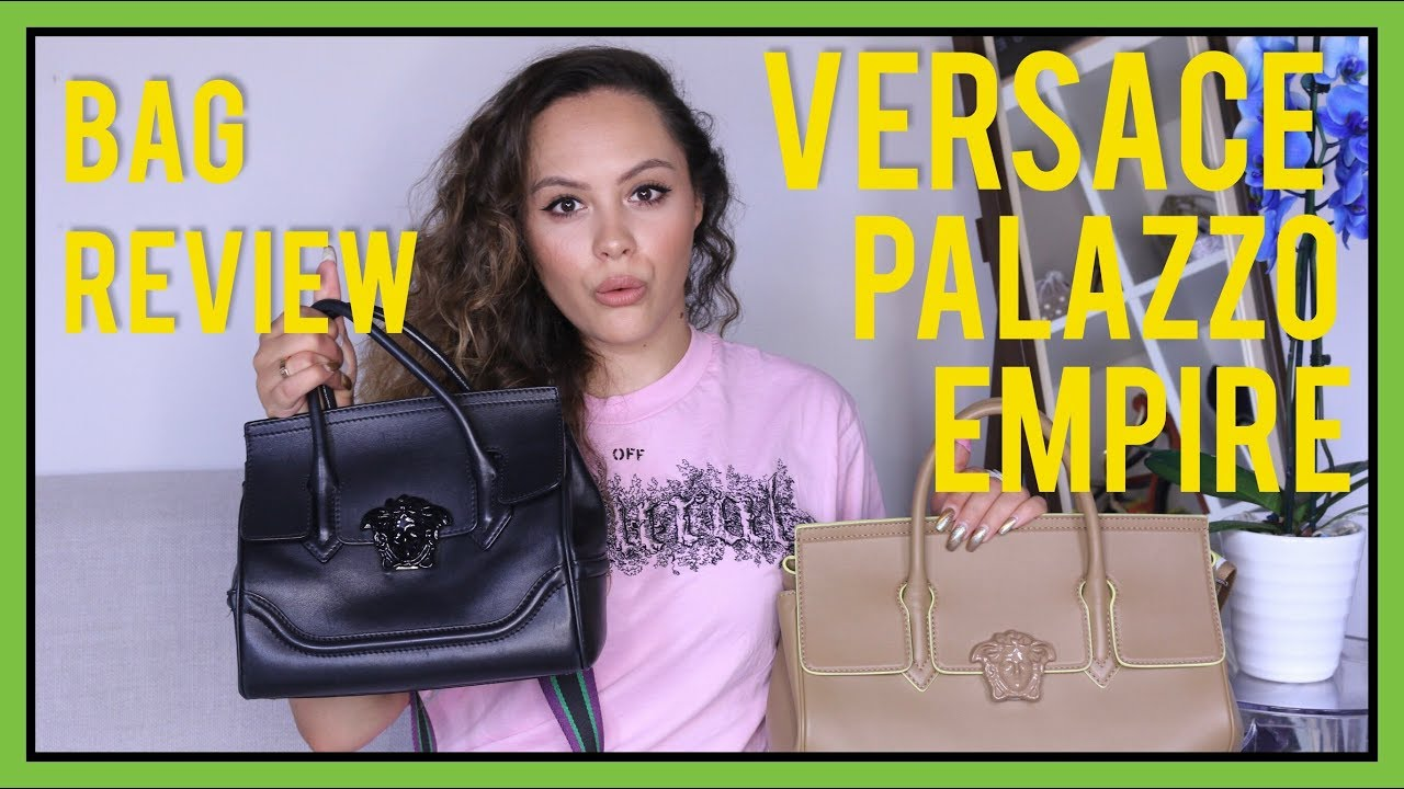 496d77a1f5 VERSACE PALAZZO EMPIRE BAG REVIEW | CA$$IE THORPE - YouTube
