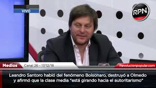 Santoro trituró a Olmedo y lanzó una grave advertencia a los argentinos