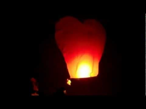 Heart Shaped Flying Lantern By Rocket Fireworks Toronto Canada
