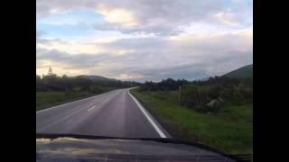 E6 Trondheim - Mo i Rana 477 km in 7:31 min
