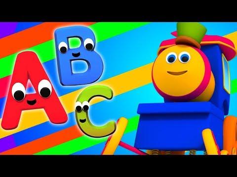 bob-trem-alfabeto- -rimas-pré-escolar- -aprender-abc- -bob-alphabet-train-song- -kids-rhymes
