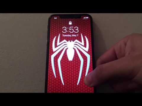 Custom Animated Spiderman Wallpaper On IPhone X