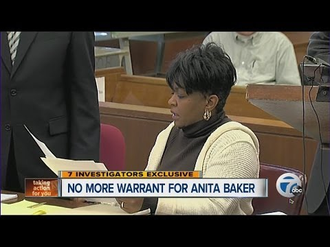 No more warrant for singer Anita Baker