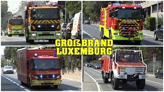 MAJOR FIRE in LUXEMBOURG! | Unique Responses | 11 Minutes of Luxembourg Fire Trucks responding!